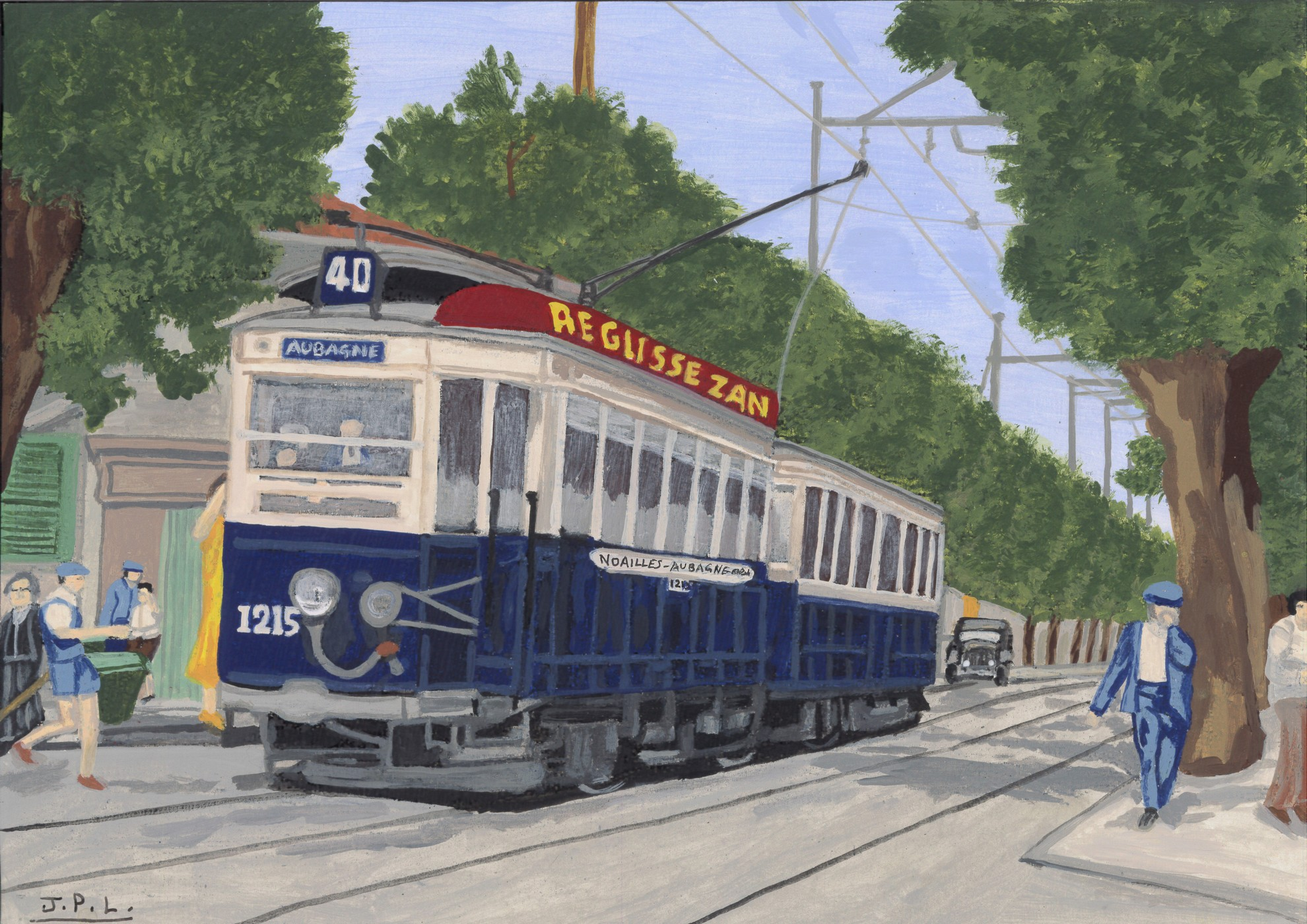 les tramways en couleurs de marseille peints par jp longato page 2. Black Bedroom Furniture Sets. Home Design Ideas